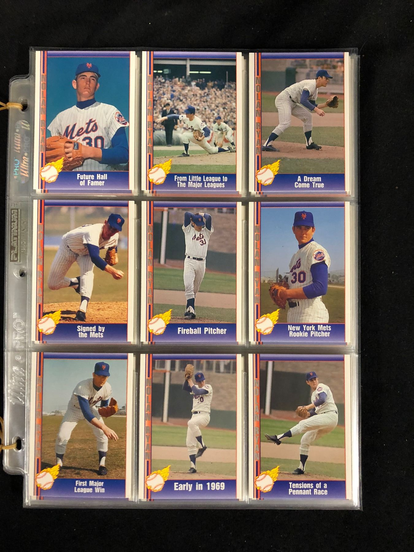 1991 Nolan Ryan Baseball Card Set Pacific Cards