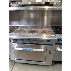 Imperial 6 Burner Plate w/Oven Below