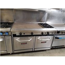 "Tri-Star 36"" griddle w/2 burners & 2 ovens below"