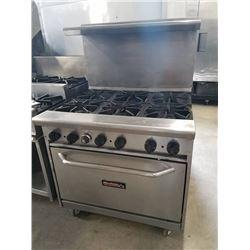 Tri-Star 6 Burner Range w/Oven Below