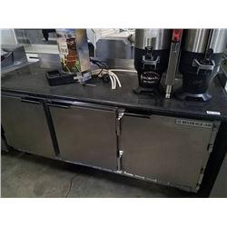 """Beverage Air 72"""" Worktop Refrigerator w/ Custom Made Marble Top"""