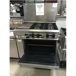 "Dcs 4 Burner Range w/12"" Griddle & Oven Below"