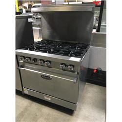 American Range 6 Burner Range w/Oven Below