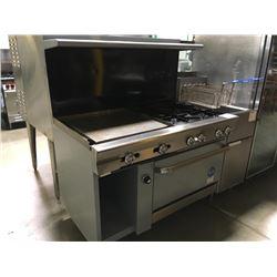 """US Range 4 Burner w/24"""" Griddle & Oven Below"""