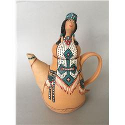 """Maree Cheatham, """"Comanche"""", ceramic teapot"""