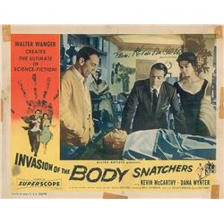 Invasion of the Body Snatchers Signed Photo and Lobby Card