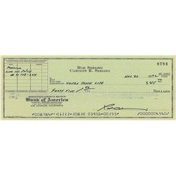 The Twilight Zone: Rod Serling Signed Check