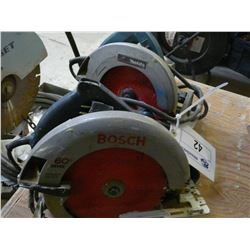 BOSCH AND MAKITA ELECTRIC SKILL SAWS
