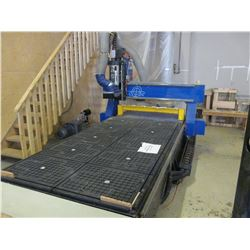 2012 PRECIX SIERRA RP CNC SINGLE HEAD ES929 POINT TO POINT ROUTER WITH 4'X8' VACUUM TABLE NIELSON