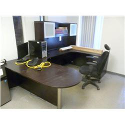 DESK, CHAIR & COMPUTER