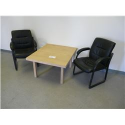 DESK & 2 CHAIRS