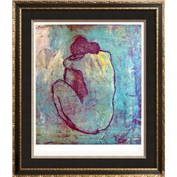 1983 Poster Picasso The Blue Nude Seated 1902, Plate Signed