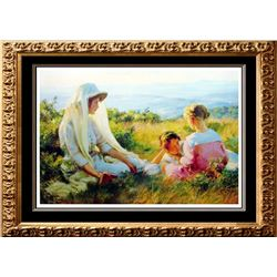 Charles C. Curran 1990 Afternoon On The Hill Made In Usa Landscape