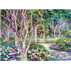 Sue Tushingham Mcmary Garden Arbors Pencil Signed Limited Edition