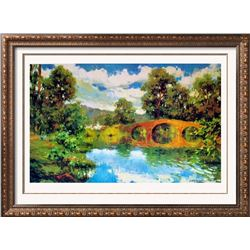 Angel Ruiz De La Casa El Viejo Puente Plate Signed Landscape Impressionism