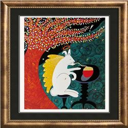 1998 Angel Hare Pasta Hubbard Abstract Pop Whimsical Food Related Print
