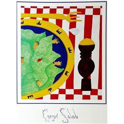 1998 Caesar Salad Hubbard Abstract Pop Whimsical Food Related Print