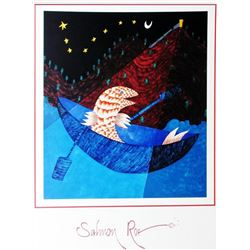 1998 Salmon Roe Hubbard Abstract Pop Whimsical Food Related Print