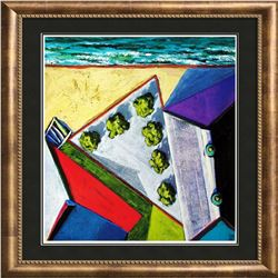 Abstract Modern Art Print Architectural Birds Eye View 1998 Printed In Spain