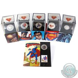 6x 2013 Canada Superman 50-cent, $10, $15 & $20 Fine Silver Coins (Tax Exempt): 2013 50-cent Superma