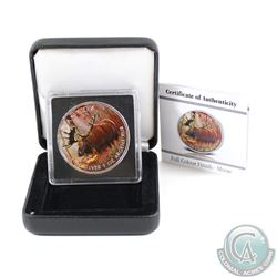 2012 Canada $5 Wildlife Series Moose 1oz Fine Silver Colourized Coin in Special Display Box & COA (c