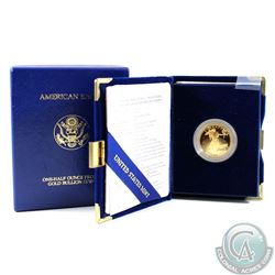 1993-P American Eagle $25 1/2oz  Fine Gold Proof Coin with all original Mint packaging. (Tax Exempt)