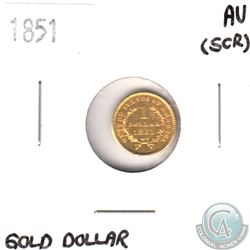 1851 United States $1 Gold.