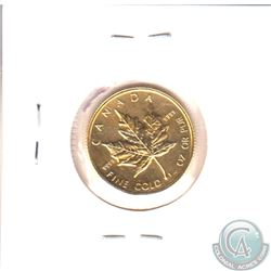 1989 Canada 1/4oz $10 .9999 Fine Gold Maple Leaf (TAX Exempt)