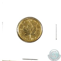 1991 Canada 1/4oz $10 .9999 Fine Gold Maple Leaf (TAX Exempt)