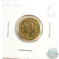 1998 Canada 1/4oz $10 .9999 Fine Gold Maple Leaf (TAX Exempt)