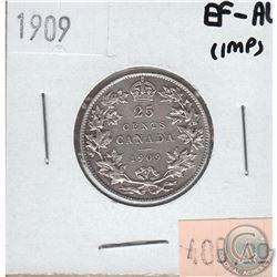 1909 Canada 25-cent EF-AU (Impaired)