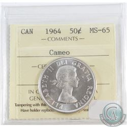 1964 Canada 50-cent ICCS Certified MS-65 Cameo
