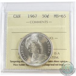 1967 Canada 50-cent ICCS Certified MS-65