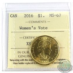 2016 Canada Loon $1 Women's Vote ICCS Certified MS-67
