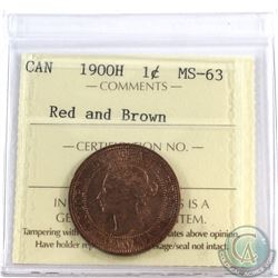 1900H Canada 1-cent ICCS Certified MS-63 Red and Brown