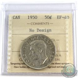 1950 Canada 50-cent No Design ICCS Certified EF-40