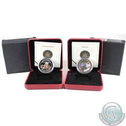 2004 Canada $20 Natural Wonders - Hopewell Rocks & 2005 NWT Diamonds Fine Silver Coins. 2pcs (TAX Ex