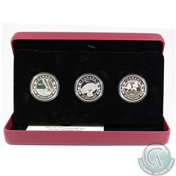 2013 Canada $20 Birth of the Royal Baby Fine Silver 3-Coin Set (Missing outer sleeve). TAX Exempt