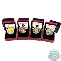 2013 & 2014 Canada $20 Maple Canopy Fine Silver Coins - 2013 Spring, 2013 Autumn, 2014 Spring Splend