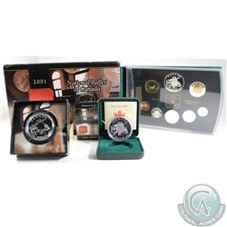 2001 Canada RCM Estate Lot. You will receive the following: 2001 Proof Dollar, 2001 Brilliant Uncirc