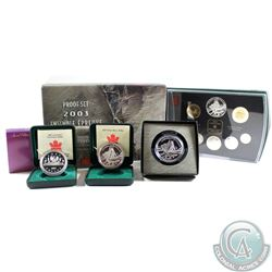 2003 Canada RCM Estate Lot. You will receive the following: 2003 Proof Dollar, 2003 Coronation Proof