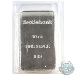 Scotiabank 10oz .999 Fine Silver Bar Sealed in original Wrap (Tax Exempt)