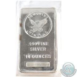 Sunshine 10oz .999 Fine Silver Bar (Tax Exempt)