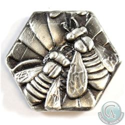 Limited Mintage! Beaver Bullion 4oz Fine Silver 'Bee Hive' Art Bar (TAX Exempt).