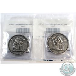 Pair of Limited Edition High Relief 1oz- The Grim Reaper Silver Rounds (Tax Exempt) 2pcs.