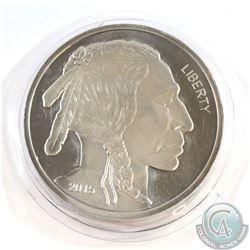 5 Troy oz. .999 Fine Buffalo Silver Round sealed in original wrap (Tax Exempt)