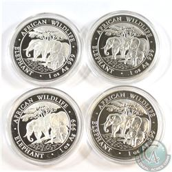 Lot of 2013 Somali 100 Shillings African Elephant 1oz Fine Silver Coins (Tax Exempt). Please note ca