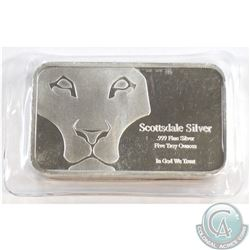 Scottsdale Silver 5 Troy oz. .999 Fine Silver Bar (Tax Exempt)