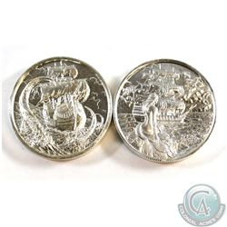 Pair of Privateer 2oz Fine Silver High Relief Coins (Tax Exempt). You will receive The Siren and The
