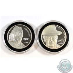 Pair of Pawn Stars 1oz Fine Silver Medallions (Tax Exempt). You will receive the Chum Lee and 'The O